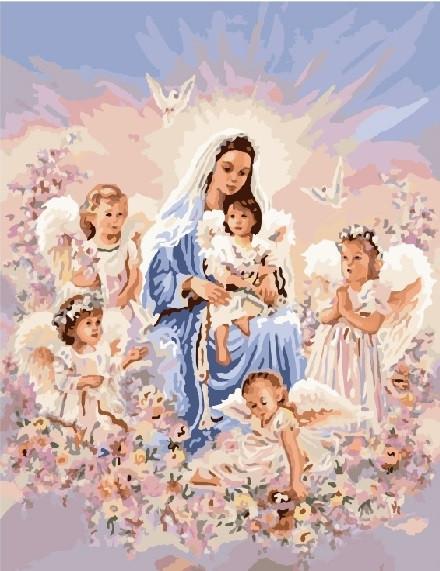 Картина по номерам Brushme Дева и ангелы