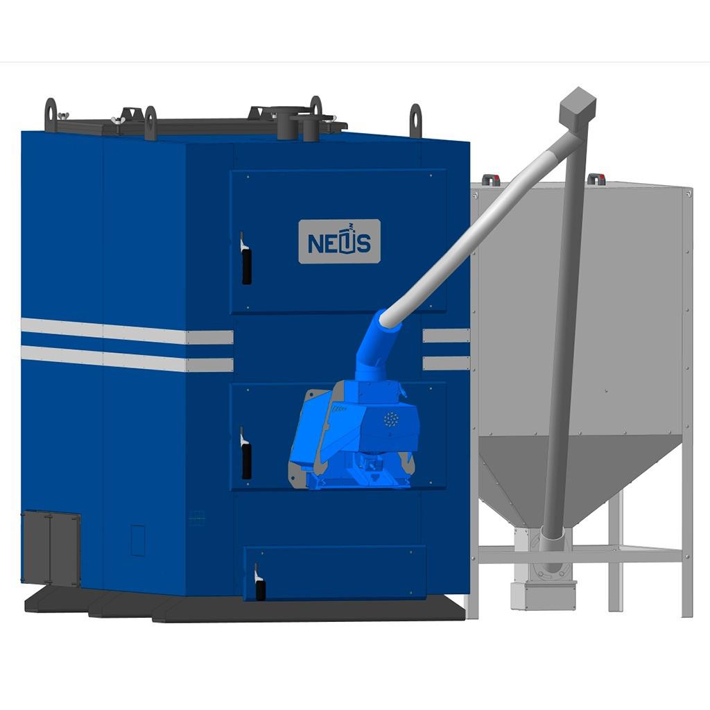 Промисловий пелетний котел Неус-Пелет-ПР 250 кВт