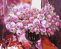 Картина по номерам Brushme Фиолетовое сияние в вазе