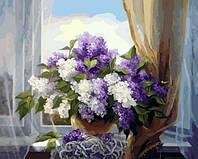 Картина по номерам Brushme Сирень у окна