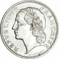 Франция 5 франков 1933 год