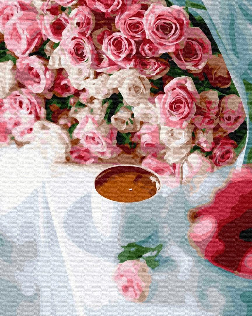 Картина по номерам Brushme Кофе для возлюбленной