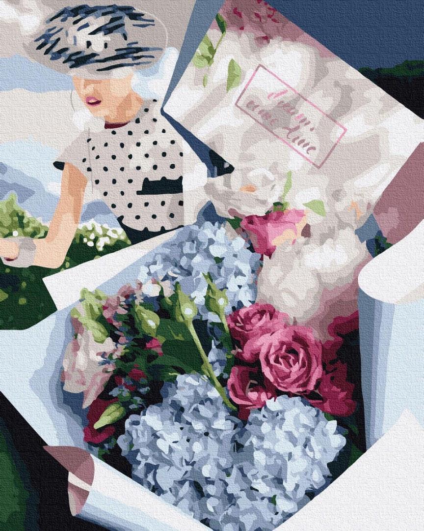 Картина по номерам Brushme Букет для ретро леди