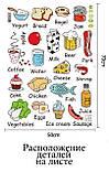 Інтер'єрна наклейка на стіну Дитяча Їжа Англійською AM7090, фото 2