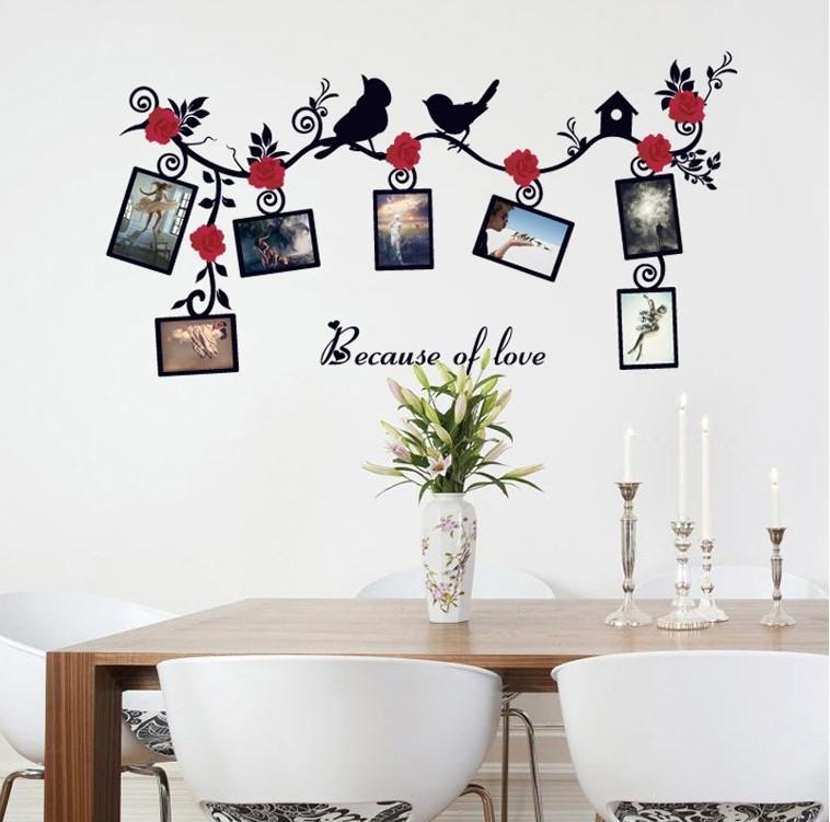 Интерьерная наклейка на стену с рамочками для фото SK6025