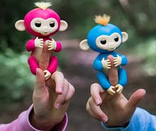 Finger Monkey Интерактивная игрушка ручная обезьянка на палец Happy Monkey (черная)