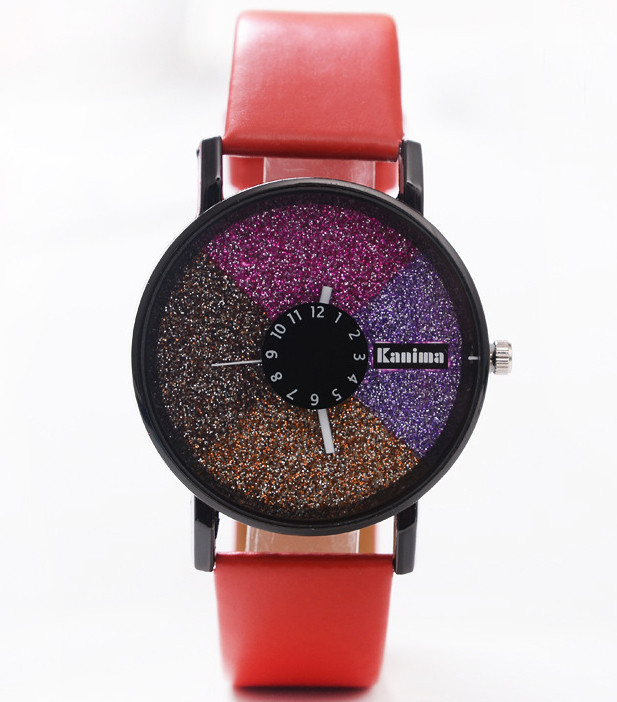 Годинники жіночі Stardust Секції червоний ремінець 075-1