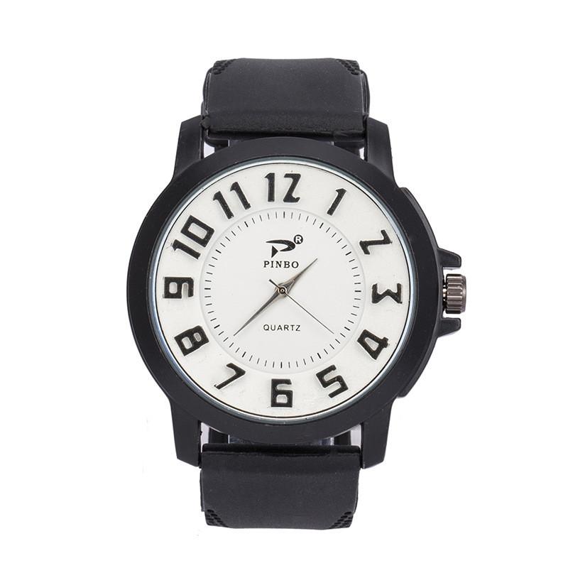Чоловічі годинники Об'ємні цифри силіконовий ремінець білі mw17-2
