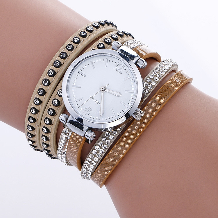 Часы-браслет длинные, наматывающиеся на руку Нюдовые 112-4