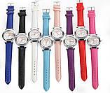 Часы женские наручные Geneva Wish красный ремешок 129-3, фото 2