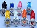 Часы со стразами Geneva Crystal женева Розовые 011-3, фото 2