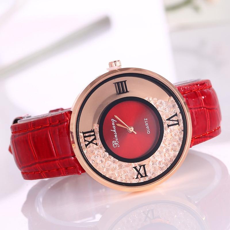 Часы женские Amni Star Красные 090-3