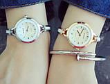 Часы женские золотистые с белым geneva130, фото 2