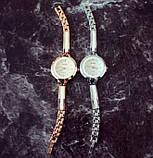 Часы женские золотистые с белым geneva130, фото 3
