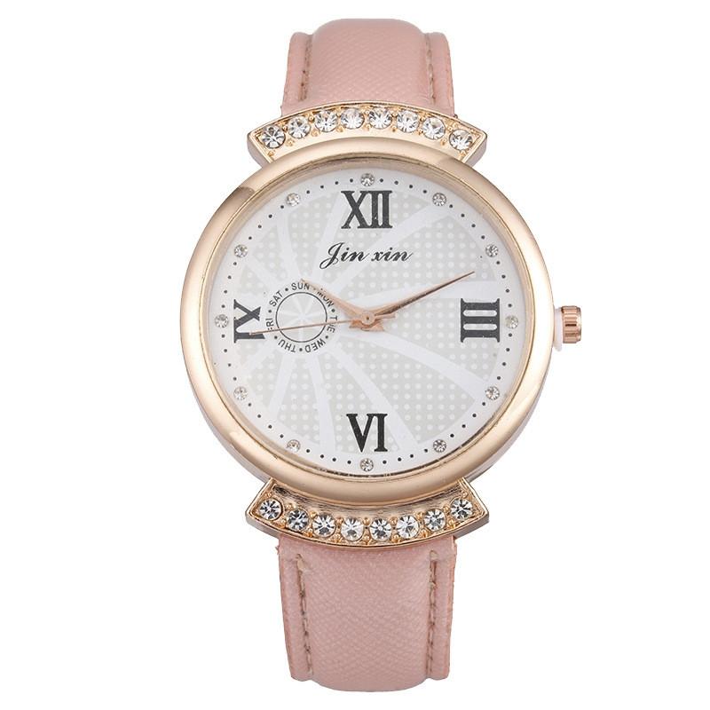 Женские часы JX стразы Пудра 131-1