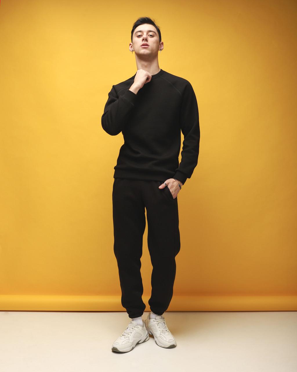 Спортивный костюм мужской черный на флисе Соул от бренда Тур, размер: XS, S, M, L, XL