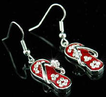 Серьги Red Slippers Earrings use Swarovski Crystal SE032