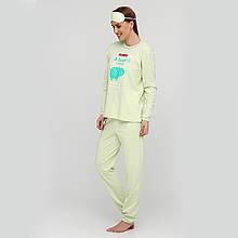 """Теплая женская пижама с маской и повязкой для волос из хлопка """"Board"""" р.48-56"""