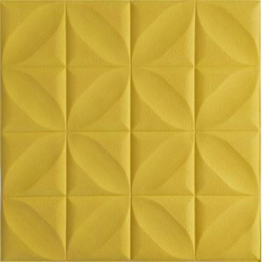 Мягкие 3D панели 700x700x8мм (самоклейка) Орнамент ЖЕЛТЫЙ