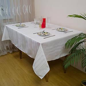 Белый тканный столовый набор