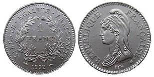 Франция 1 франк 1992 Франция — 200 лет Французской Республике