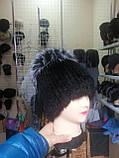 Меховая шапка из норки на вязанной  основе с верхом из чернобурки, фото 5