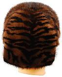 Женская норковая шапка Ника (тигр), фото 2