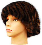 Женская норковая шапка Ника (тигр), фото 3