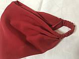 Косынка повязка на резинке цвет белый с рисунком, фото 6