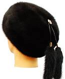 Женская  меховая  шапка берет из норки, фото 3