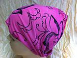 Косынка повязка на резинке цвет розовый терракотовый голубой, фото 2