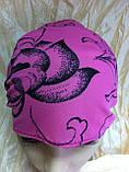 Косынка повязка на резинке цвет розовый терракотовый голубой, фото 5