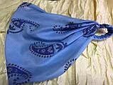 Косынка повязка на резинке цвет розовый терракотовый голубой, фото 8