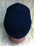 Шапка-бейсболка из трикотажного полотна цвет черный и серый, фото 5