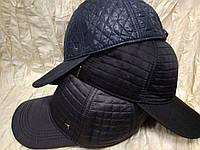 Бейсболка утеплённая из стёганной плащёвки серая,чёрная,синяя 56-58-60