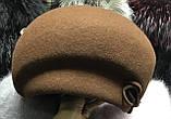 Фетровый берет шляпа с ассиметричным наклоном, фото 3