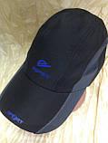 Бейсболка из плащёвки размер 58-60 цвет чёрный, фото 4