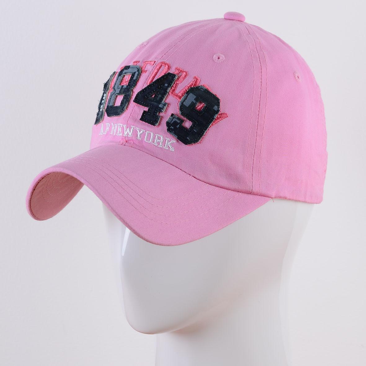 Розовая бейсболка 1849 Американка 56- 58