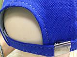 Бейсболка синяя из тонкого трикотажного полотна 57/59, фото 2