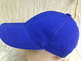 Бейсболка синяя из тонкого трикотажного полотна 57/59, фото 3