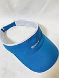 Козырек с спортивным логотипом  голубой, фото 3