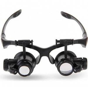 Бінокулярні окуляри-лупи з Led підсвічуванням 9892G1