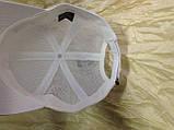 Белая бейсболка с элементами сетки унисекс 56-58, фото 3