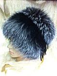 Меховая шапка из чернобурки  на вязанной  основе, фото 2