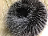 Меховая шапка из чернобурки  на вязанной  основе, фото 6