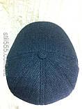 Кепка мужская серая из твида в ёлочку пятиклинка 59-60, фото 4