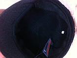 Кепка мужская серая из твида в ёлочку пятиклинка 59-60, фото 7