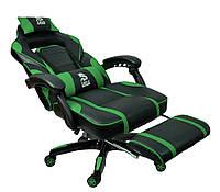 Спортивне крісло офісне DEUS LARGE зелене Ігрове крісло Компьютерное кресло спортивное для гравців