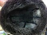 Мужская ушанка из натуральной коричневой овчины, фото 8