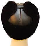 Мячик мужская шапка норковая (черная), фото 4
